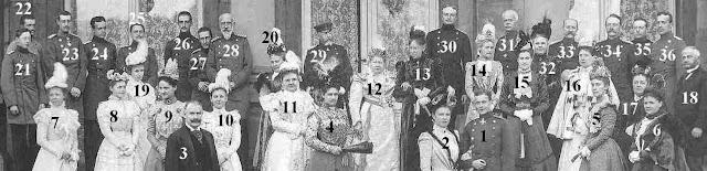 Une photo  prise fin octobre 1898 à l'occasion du mariage de la princesse Pauline de Wurtemberg