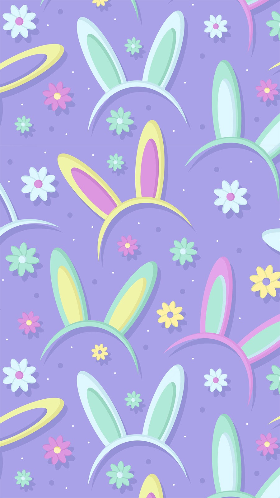 easter bunny pattern wallpaper in 1080 x 1920 pixels for phone