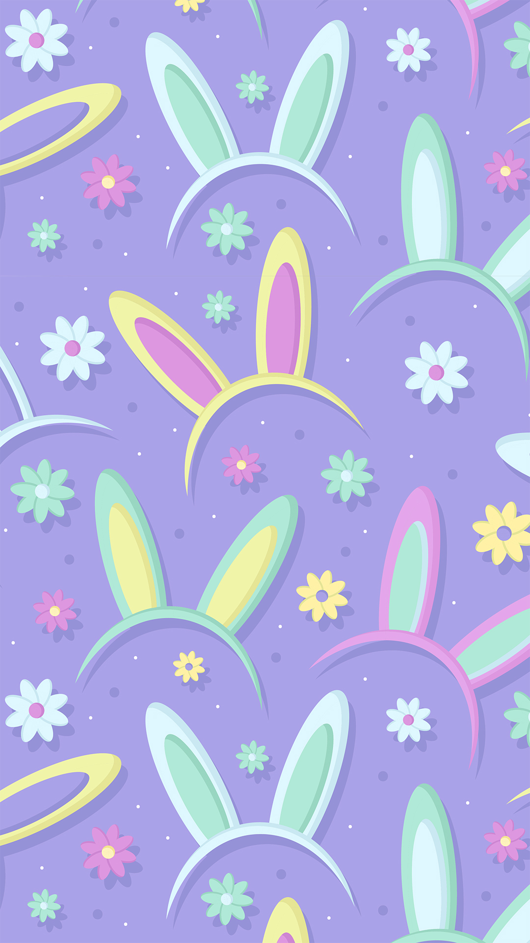 Easter Bunny Pattern Phone Wallpaper Heroscreen