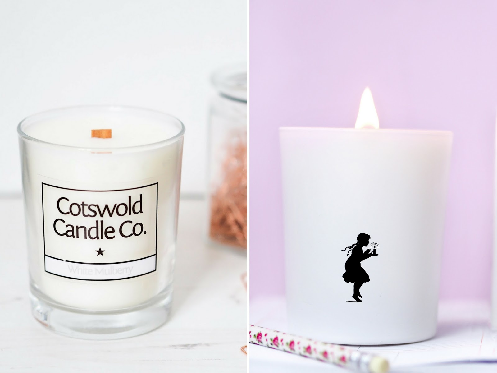 Cotswold Candle Co old vs new packaging