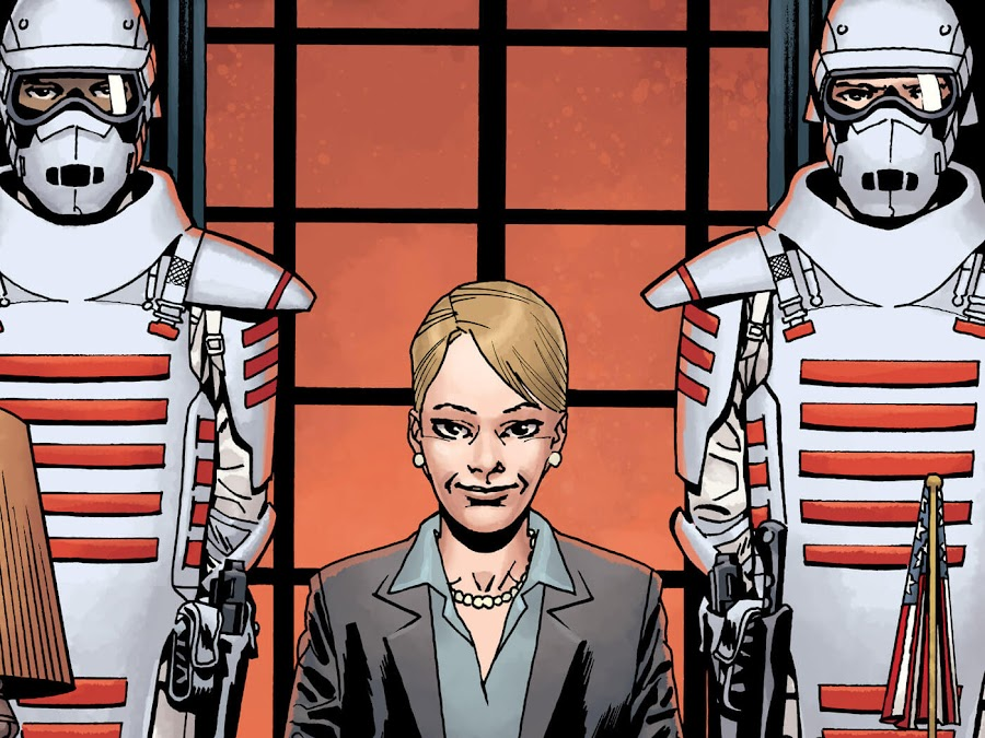 governor pamela milton commonwealth the walking dead new world order image comics robert kirkman twd