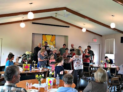 May 6 2018 Saying Goodbye to members of our church family who will be moving closer to family.