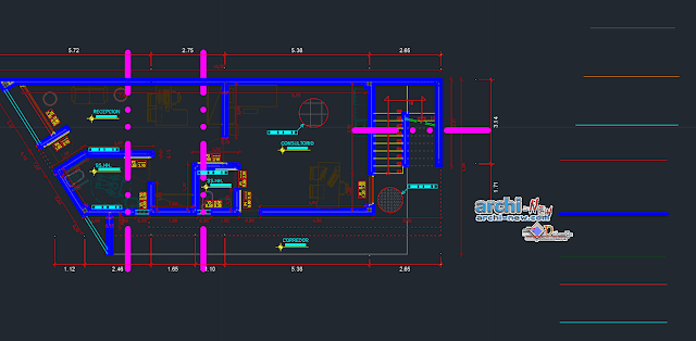 Country house use of stone Dwg