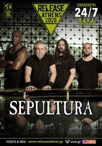 Οι Sepultura σε Αθήνα και Θεσσαλονίκη