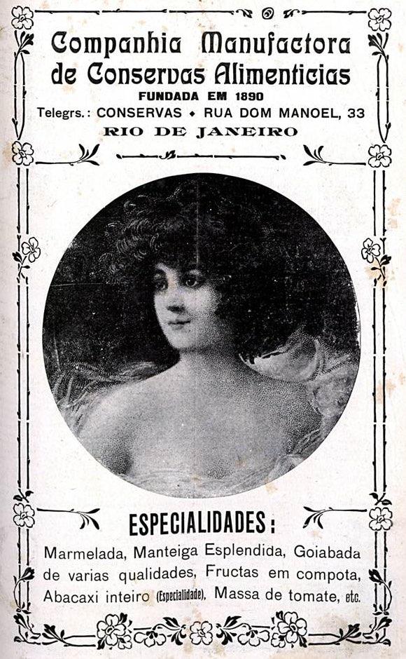 Propaganda antiga da Companhia Manufatura de Conservas Alimentícias veiculada em 1912
