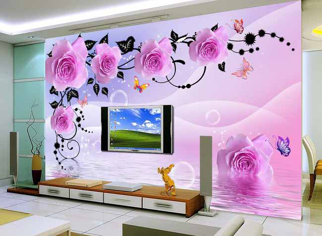 Best 3D Wallpaper for walls of living room, bedroom and kitchen