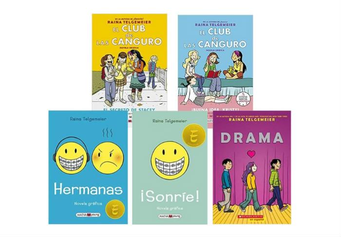 Novela gráfica pre adolescentes niños Raina Telgemeier
