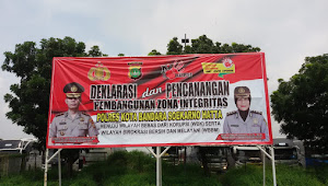 Jumat Bersih di Halaman mako polres Bandara Soekarno Hatta