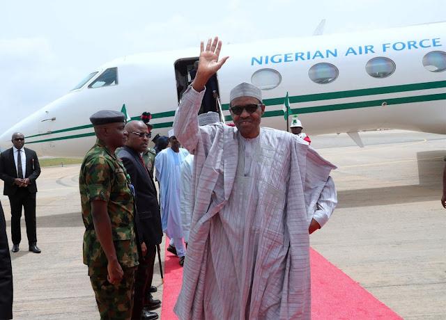 President Buhari returns to Nigeria from Japan