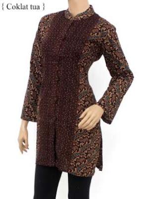 baju batik untuk kerja kombinasi celana panjang