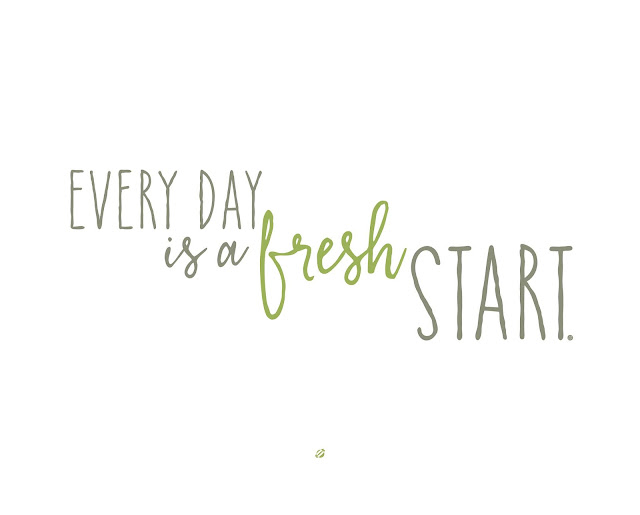 LostBumblebee©2019 MDBN Every day is a Fresh START! Free printable, inspirational, encouraging, motivating, home decor, PERSONAL USE ONLY.