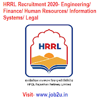 HRRL Recruitment 2020, Engineering, Finance, Human Resources, Information Systems, Legal