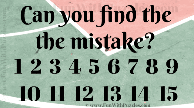 Visual Riddle Quiz to Find the Mistake in the Picture