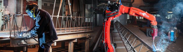 Роботизация сварки решётчатых колонн на шведском металлообрабатывающем заводе HÖGANÄS VERKSTADS