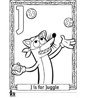 Ausmalbilder Dora Alphabet zum Ausdrucken