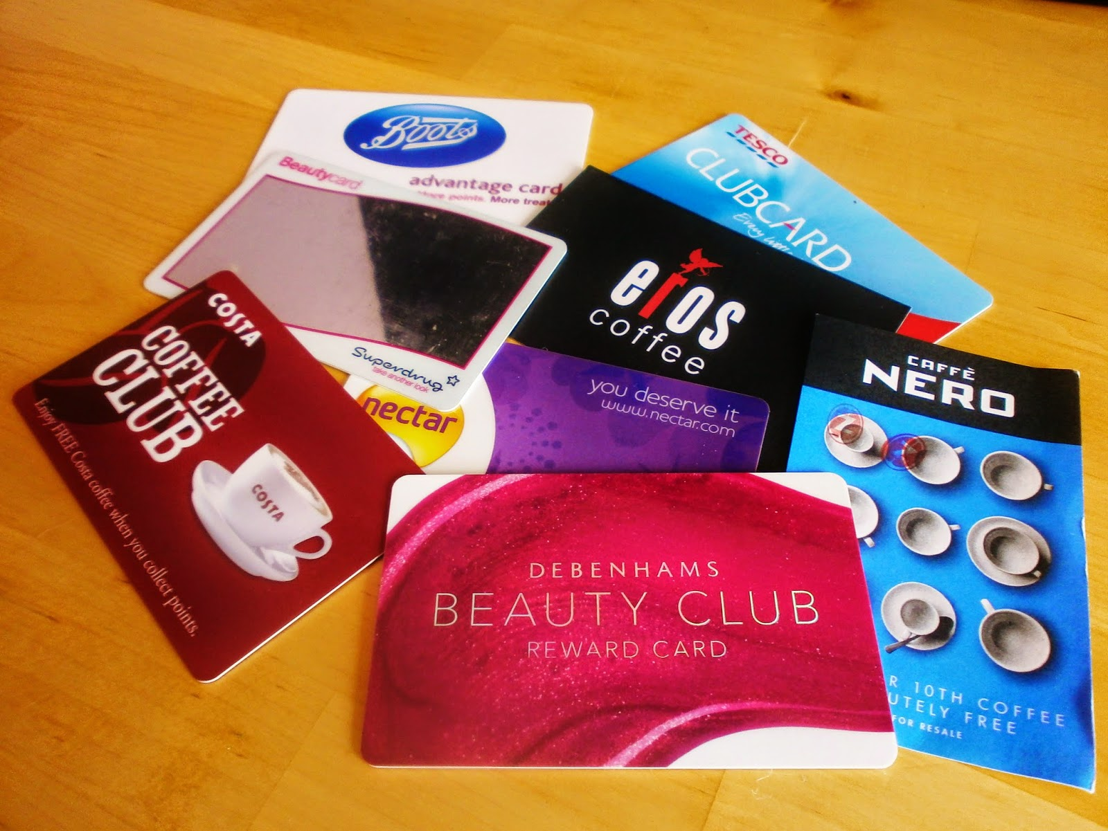 Loyalty cards to take to university