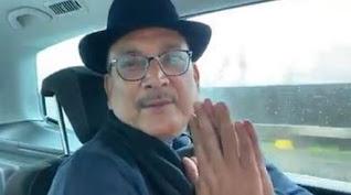 गुप्तेश्वर पांडे आज इसी मुद्रा में नजर आ रहे हैं, अब भाई मुझे माफ करो, हमसे ना हो पाएगा ?