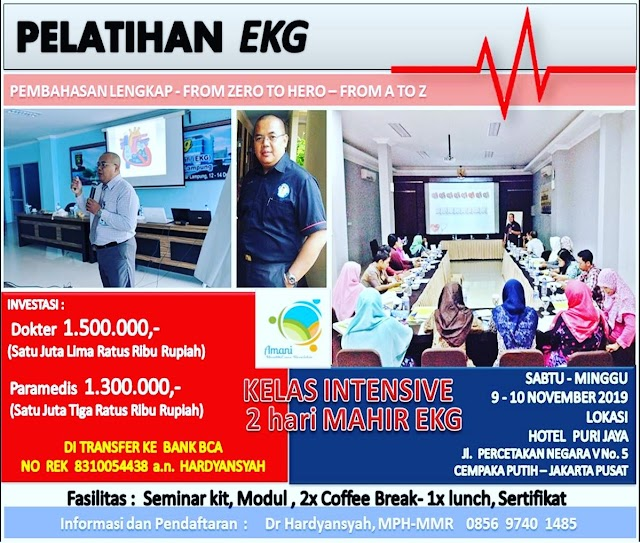 LEARNING EKG  FROM ZERO to HERO, FROM A to Z 9-10 November 2019