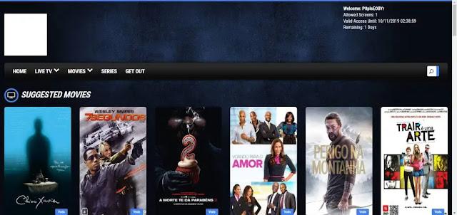 Web-Player pentru iptv Xtream Panel