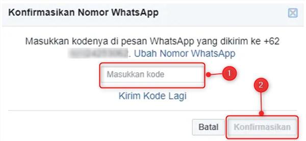 konfirmasi kode facebook
