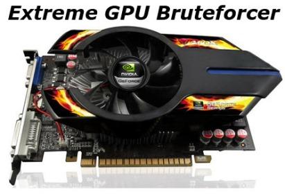 Extreme GPU Bruteforcer - Crack passwords with 450 Million passwords/Sec Speed