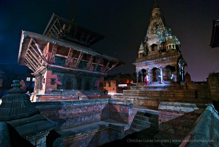 Bhaktapur Durbar Square at Night