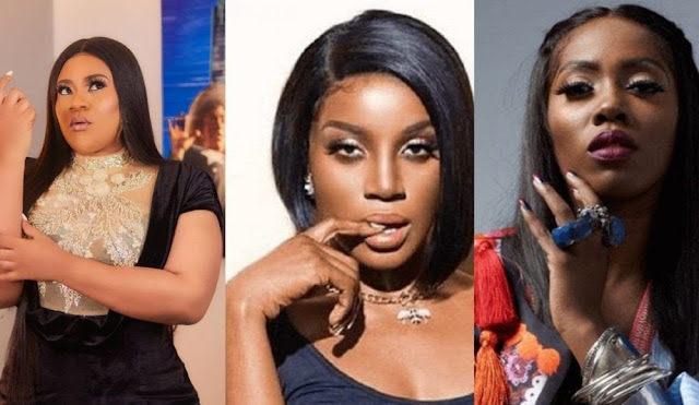 'I will beat you' – Nkechi Blessing reacts over Seyi Shay and Tiwa Savage's public fight