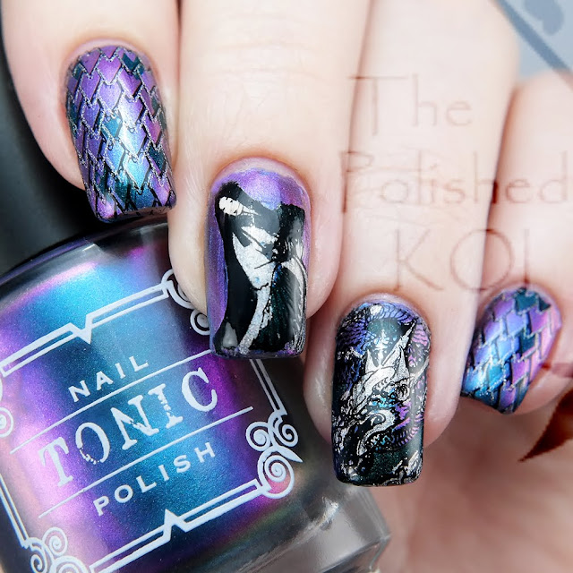 Tonic Polish Specte Dragon Maiden Nail Art