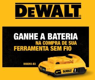 Cadastrar Promoção DeWALT 2020 Compre Ganhe Bateria