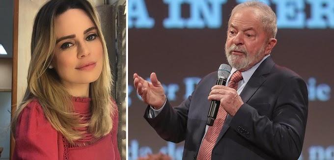 """Sheherazade com cínica euforia enaltece entrevista de Lula: """"Épico"""""""