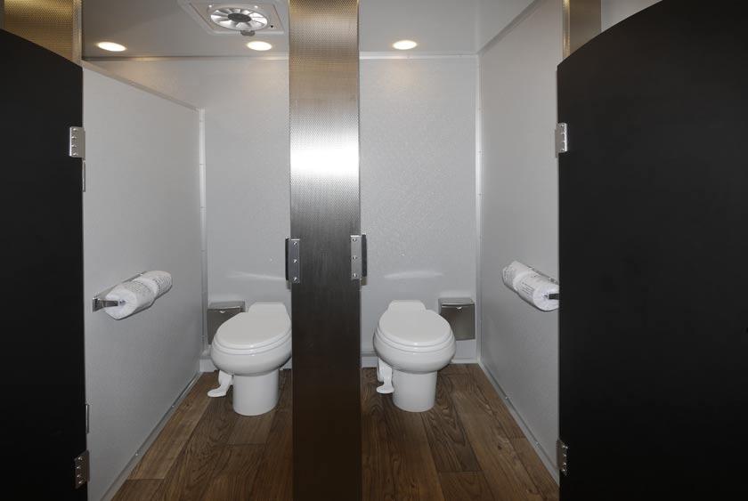 Bathroom Trailer Rental portable toilet | porta potty | port o potty | portable restroom