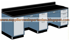 Wall Bench Polos Meja Lab Mepet Dinding