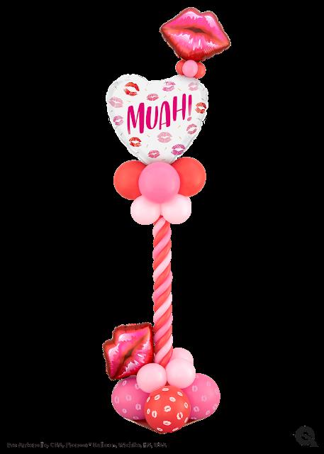Come Close Valentine! Designer name: Eve Antonello, CBA, Pioneer Balloon Company, Wichita, KS, USA