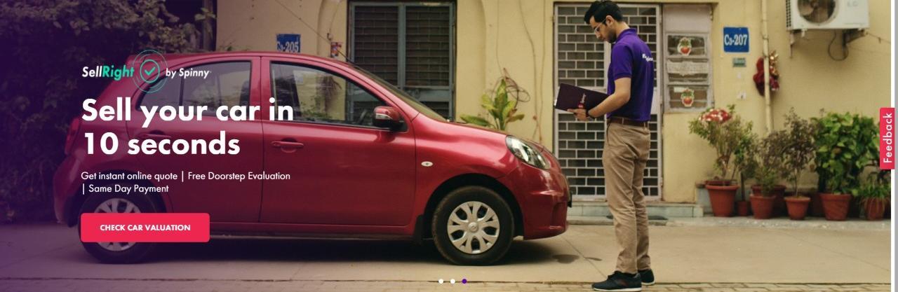 Spinny Used Cars Banglore, Gurgaon, Pune Reviews Company