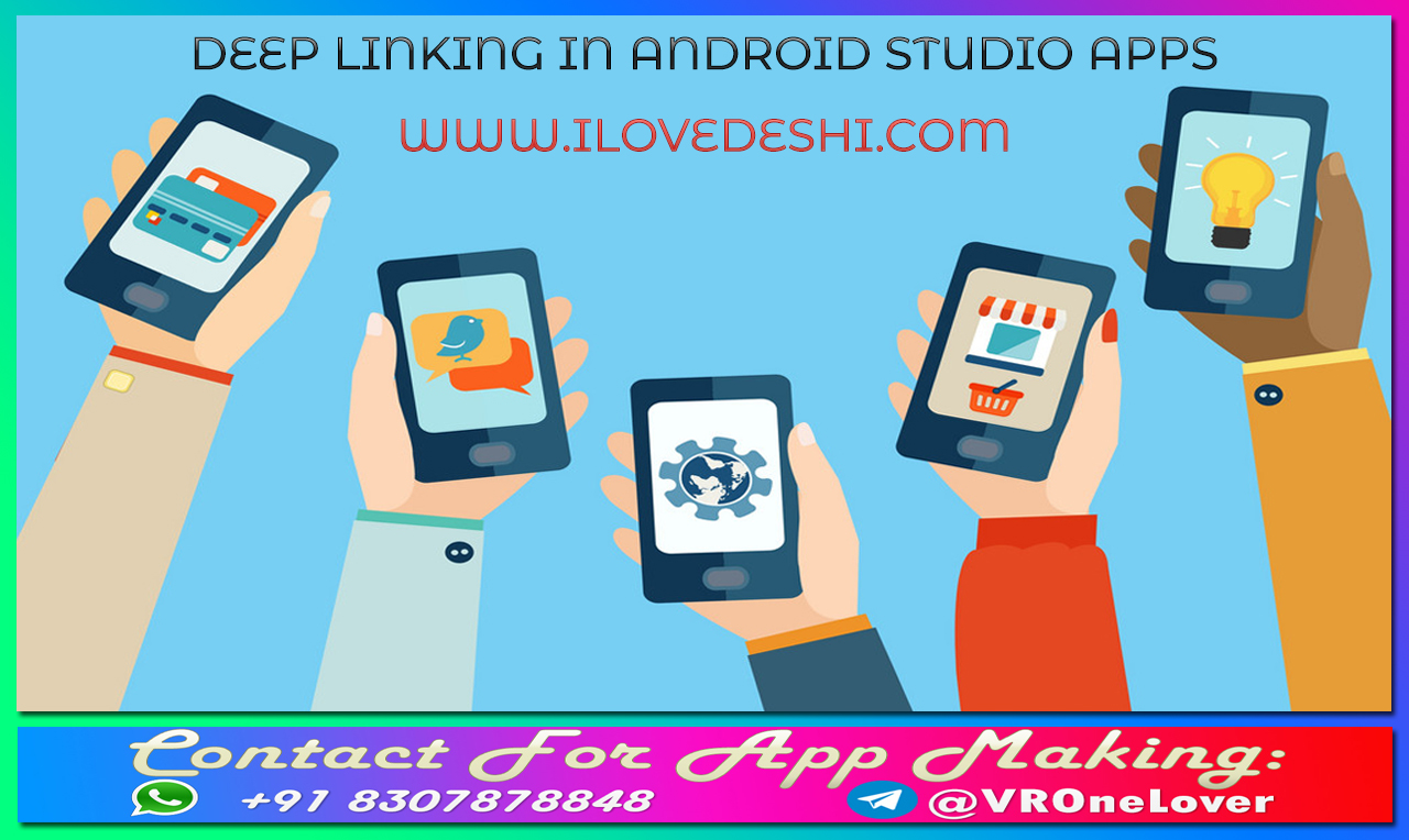 How to Create Deep Links for App Content in Android Studio