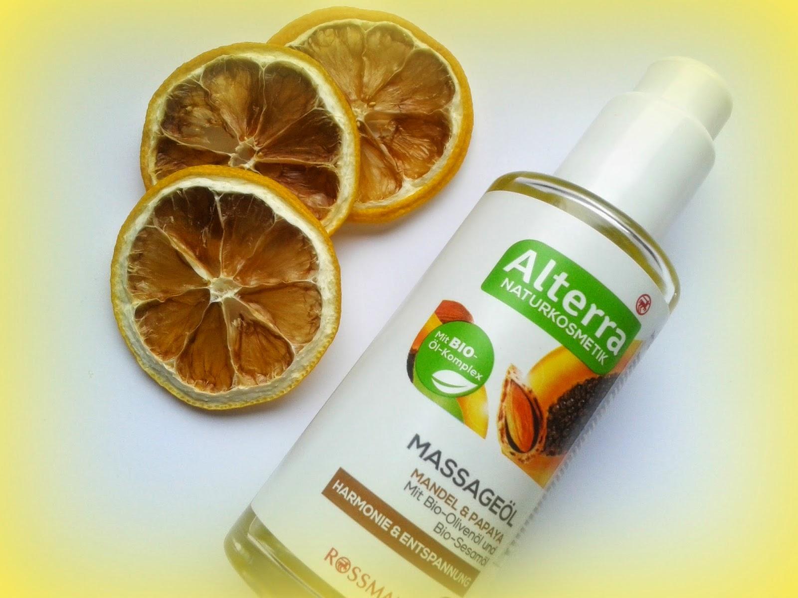 Olejek do masażu Alterra Migdały i papaja
