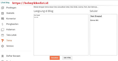 preview blog error not found