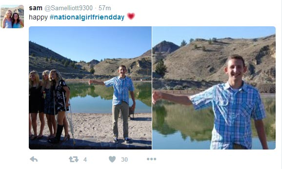 Check out these dudes' #NationalGirlfriendDay tweets