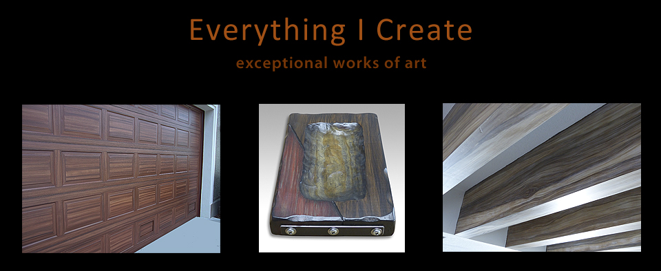 Everything I Create -  Woodworking Tutorials, Paint Garage Door to Look Like Wood