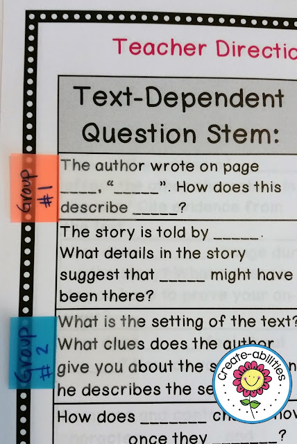 Text-Dependent Question Stems