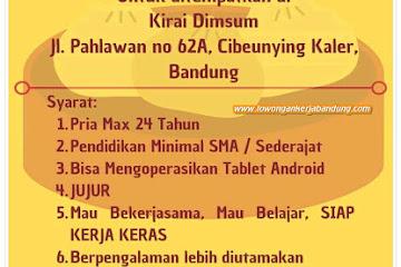 Lowongan Kerja Outlet Crew Kirai Dimsum Bandung