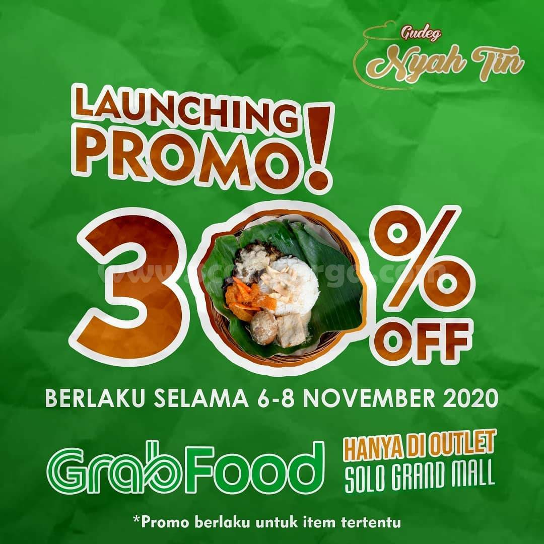 Gudeg Nyah Tin Launching Promo Disc 30% off via Grabfood