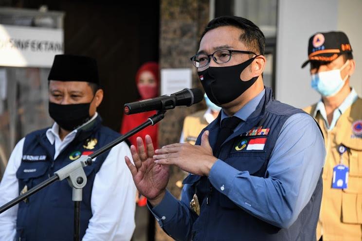 Gubernur Jawa Barat Ridwan Kamil usai rapat koordinasi Gugus Tugas Percepatan Penanggulangan COVID-19 Jawa Barat di Markas Kepolisian Daerah Jawa Barat, Kota Bandung, Selasa 16 Juni 2020. /DOK. HUMAS PEMPROV JABAR