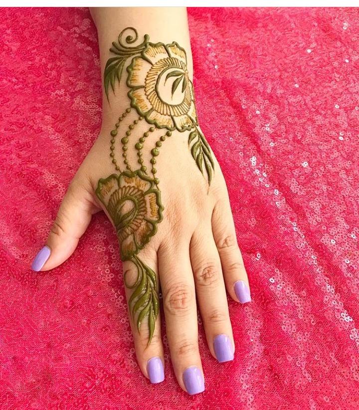 Download 15 Beautiful simple & easy Mehndi designs photos