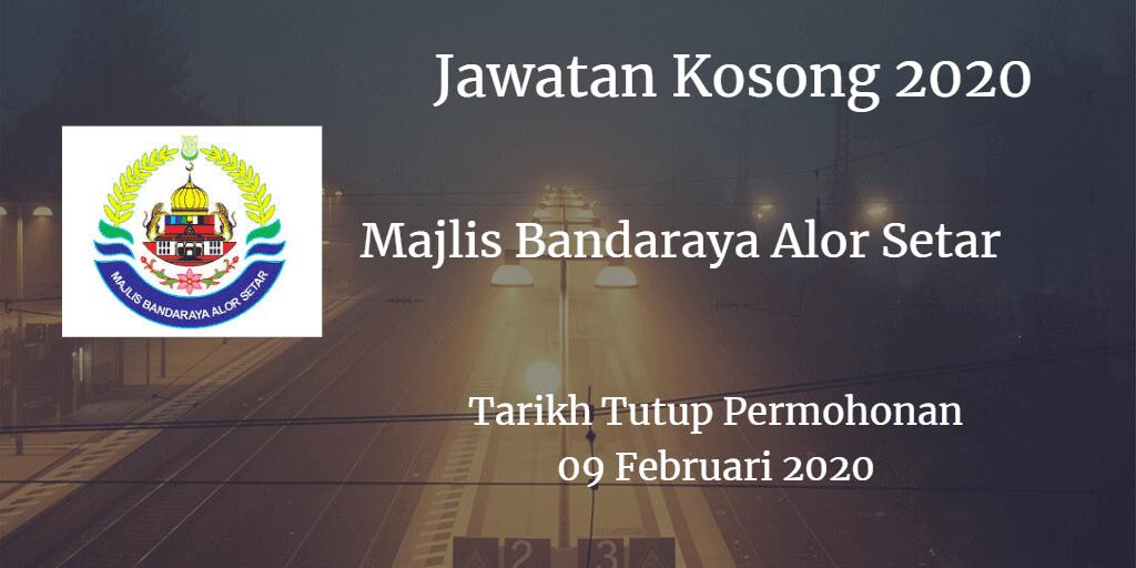 Jawatan Kosong MBAS 09 Februari 2020