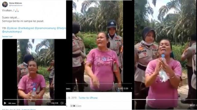 Tanahnya Digusur buat Tol Pekanbaru, Ibu Menangis: Tolong Pak Jokowi