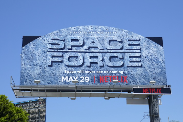 Space Force Moon extension cutout billboard