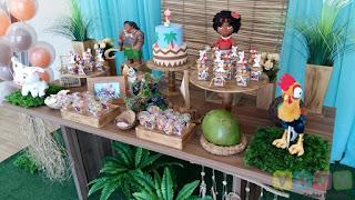 Decoração festa infantil Moana