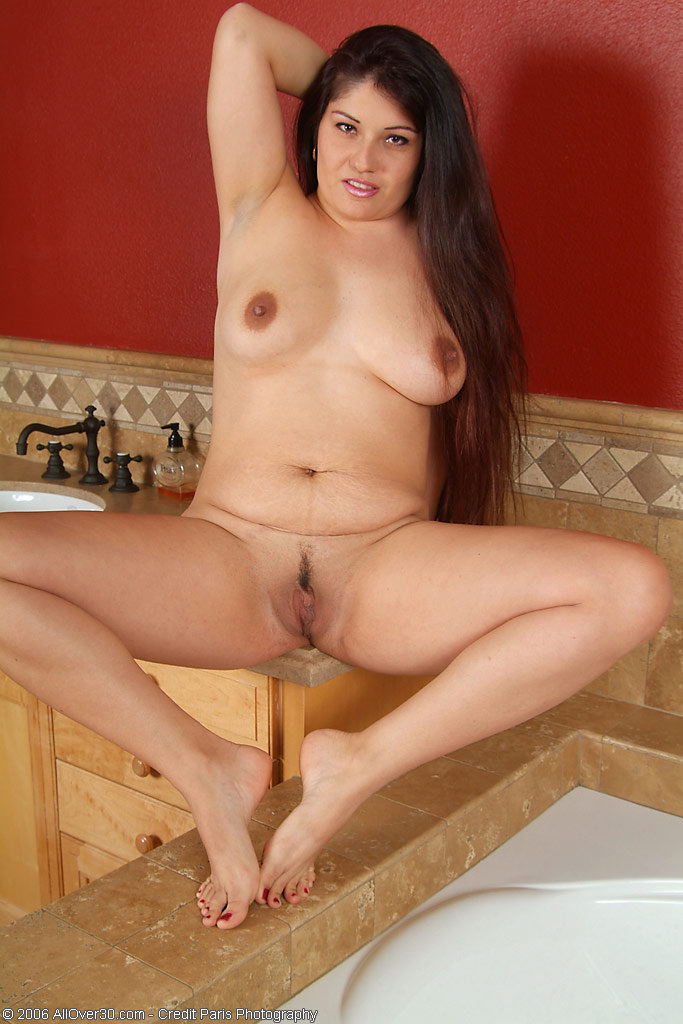 Darkhaired slut with long sharp nails is hunting for cock
