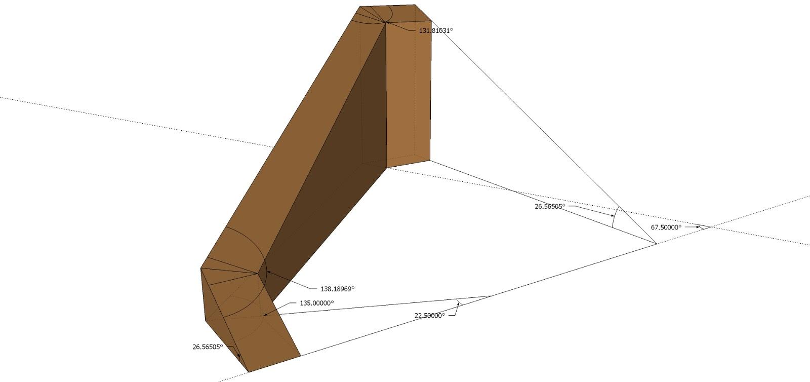 Roof Framing Geometry 45 Plan Angle Rake Wall Plates
